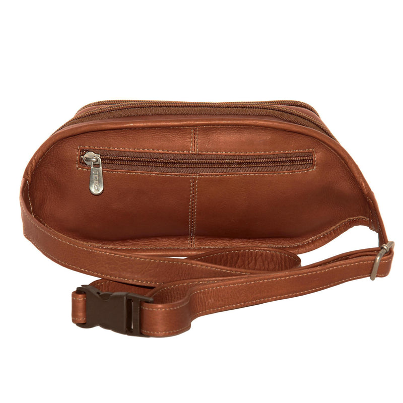 Piel Leather Multi-Zip Oval Waist Bag-Luggage Pros