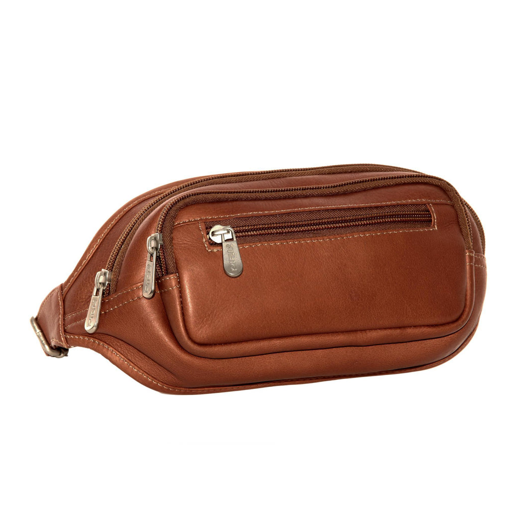 Piel Leather Multi-Zip Oval Waist Bag