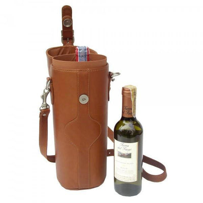 Piel Leather Single Deluxe Wine Carrier