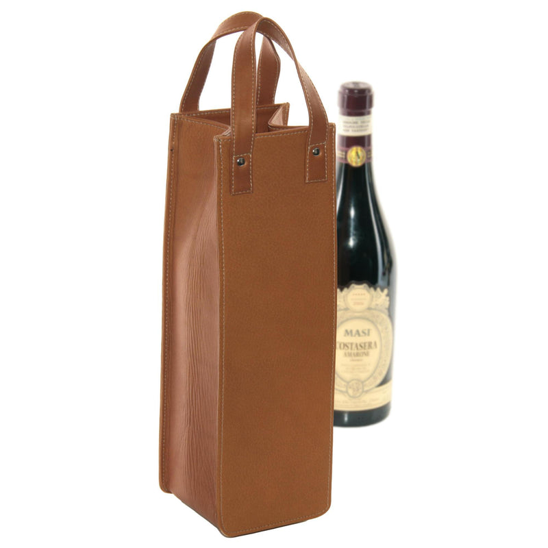 Piel Leather Single Wine Tote-Luggage Pros