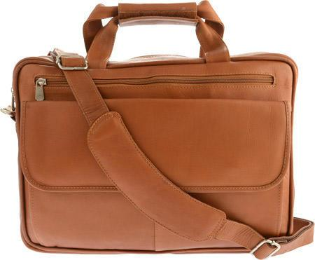 Piel Leather Slim Top-Zip Briefcase
