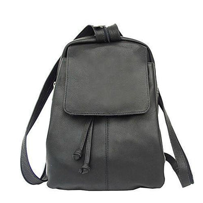 Piel Leather Small Drawstring Backpack