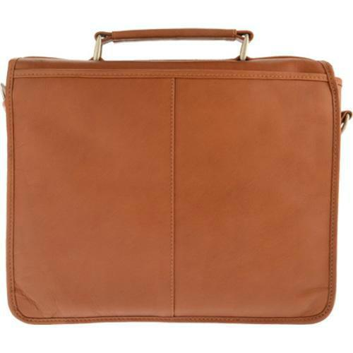 Piel Leather Small Flap-Over Laptop Brief-Luggage Pros