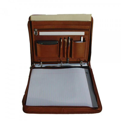 Piel Leather Three-Ring Binder