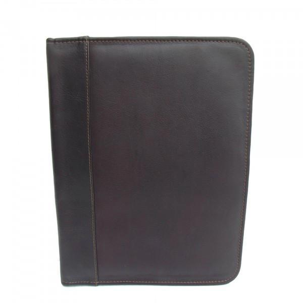 Piel Leather Three-Ring Binder-Luggage Pros