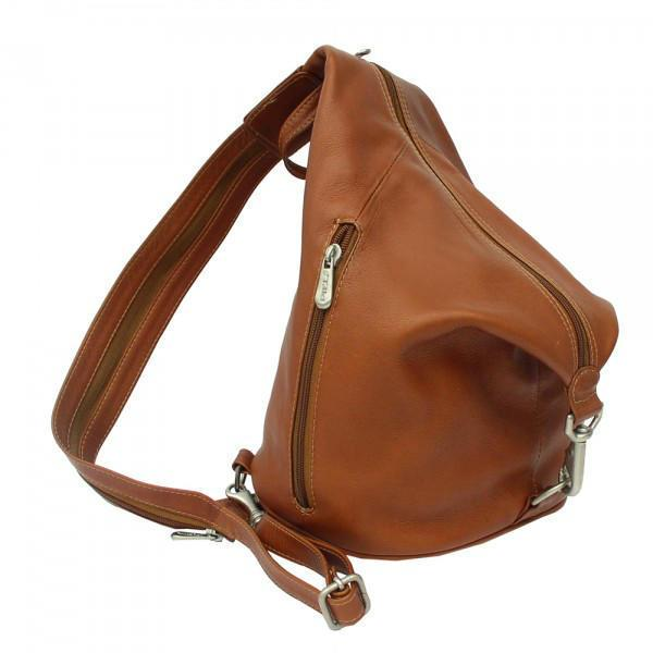 Piel Leather Three-Zip Hobo Sling-Luggage Pros