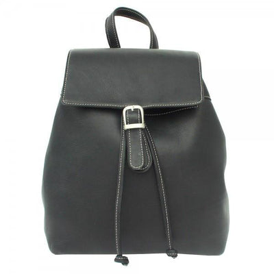 Piel Leather Top Flap Drawstring Backpack
