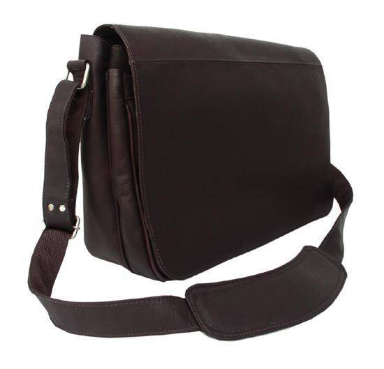 Piel Leather Traditional Messenger-Luggage Pros