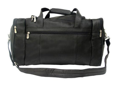 Piel Leather Travel Duffel with Side Pockets