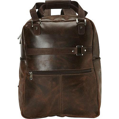 Piel Leather Vintage Laptop Carry-All/Convertible Backpack
