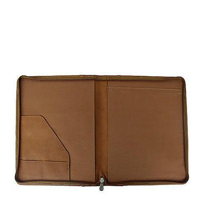 Piel Leather Zippered Padfolio