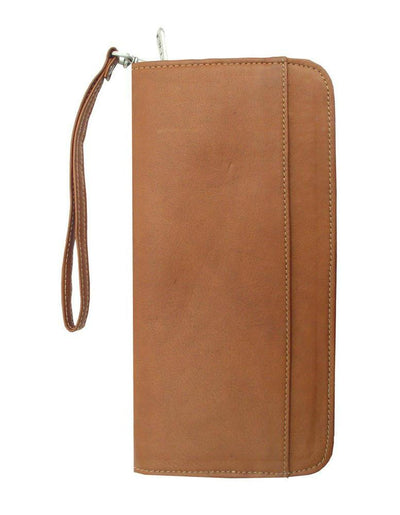 Piel Leather Zippered Passport/Ticket Holder