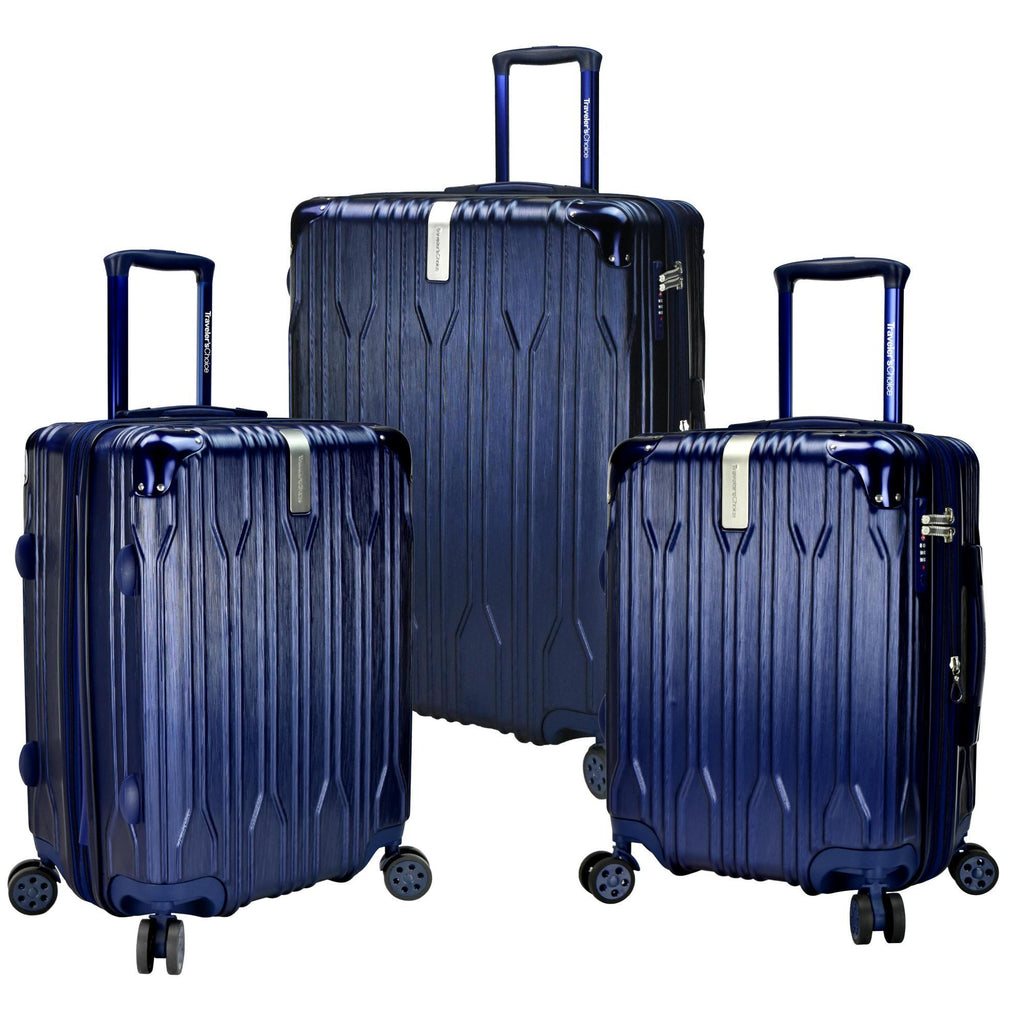 Traveler's Choice Bell Weather Expandable 3-Piece Spinner Luggage Set
