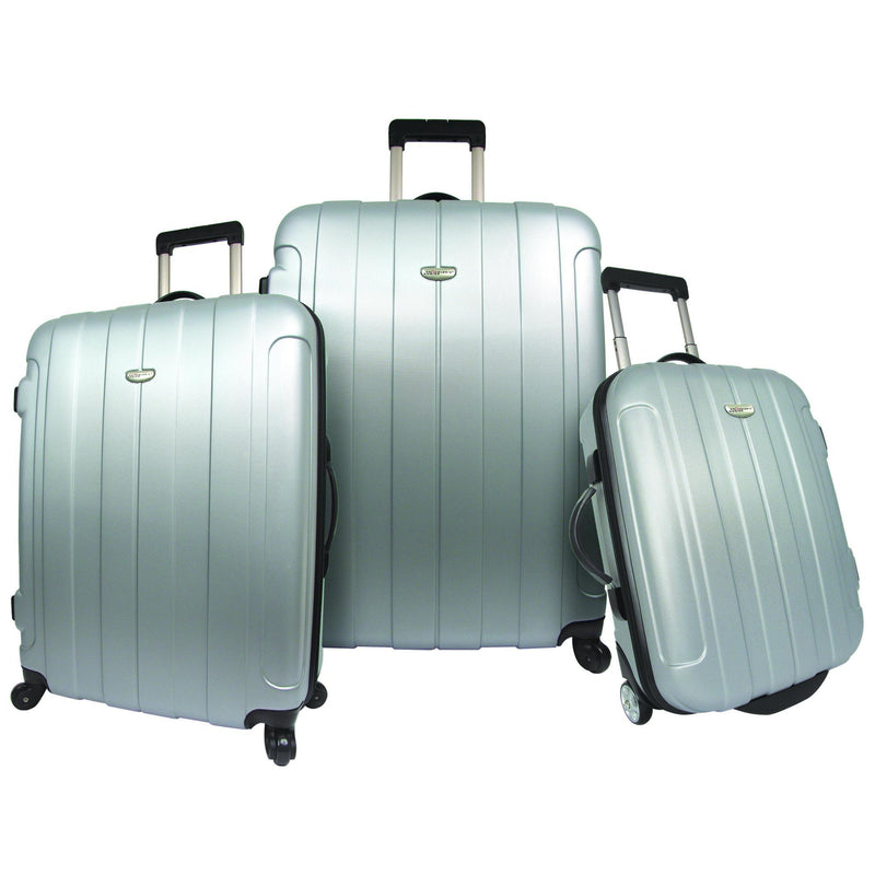 Traveler's Choice Rome 3-Piece Hardshell Spinner Luggage Set-Luggage Pros