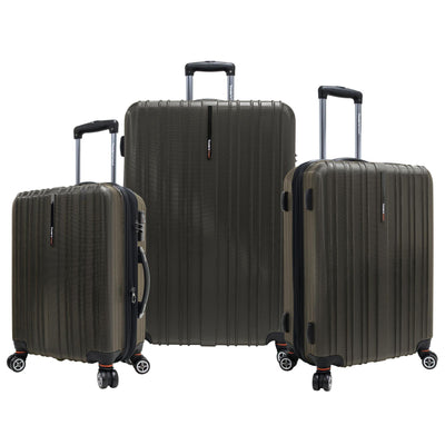 Traveler's Choice Tasmania Polycarbonate 3-Piece Expandable Spinner Luggage Set