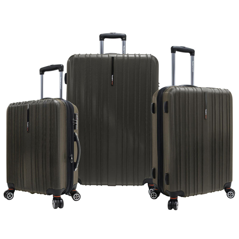 Traveler's Choice Tasmania Polycarbonate 3-Piece Expandable Spinner Luggage Set-Luggage Pros