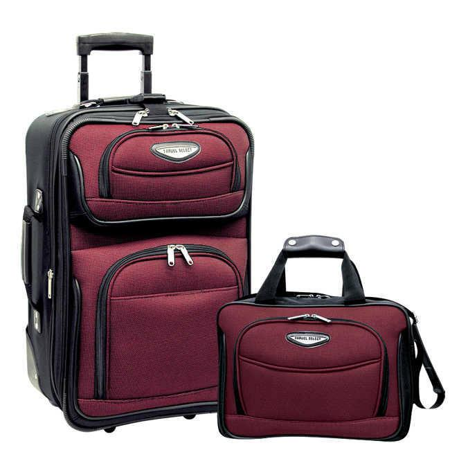Traveler's Choice Travel Select Amsterdam 2 Piece Carry-On Luggage Set-Luggage Pros