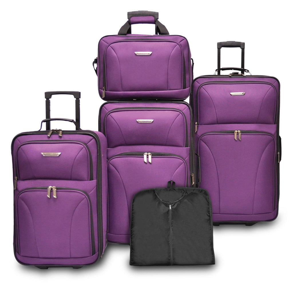 Traveler's Choice Versatile 5-Piece Luggage Set