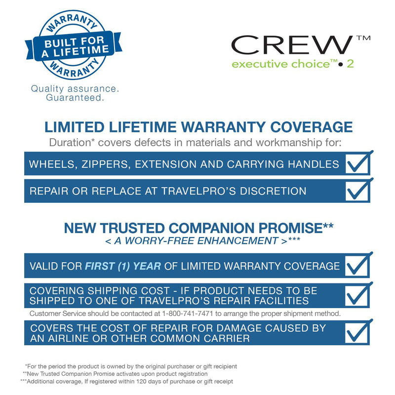 Travelpro Crew Executive Choice 2 Pilot Brief-Luggage Pros
