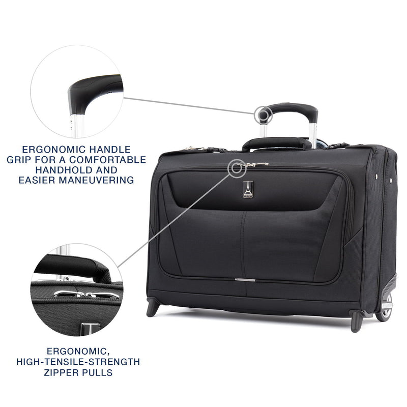Travelpro Maxlite 5 Lightweight Carry-On Rolling Garment Bag-Luggage Pros