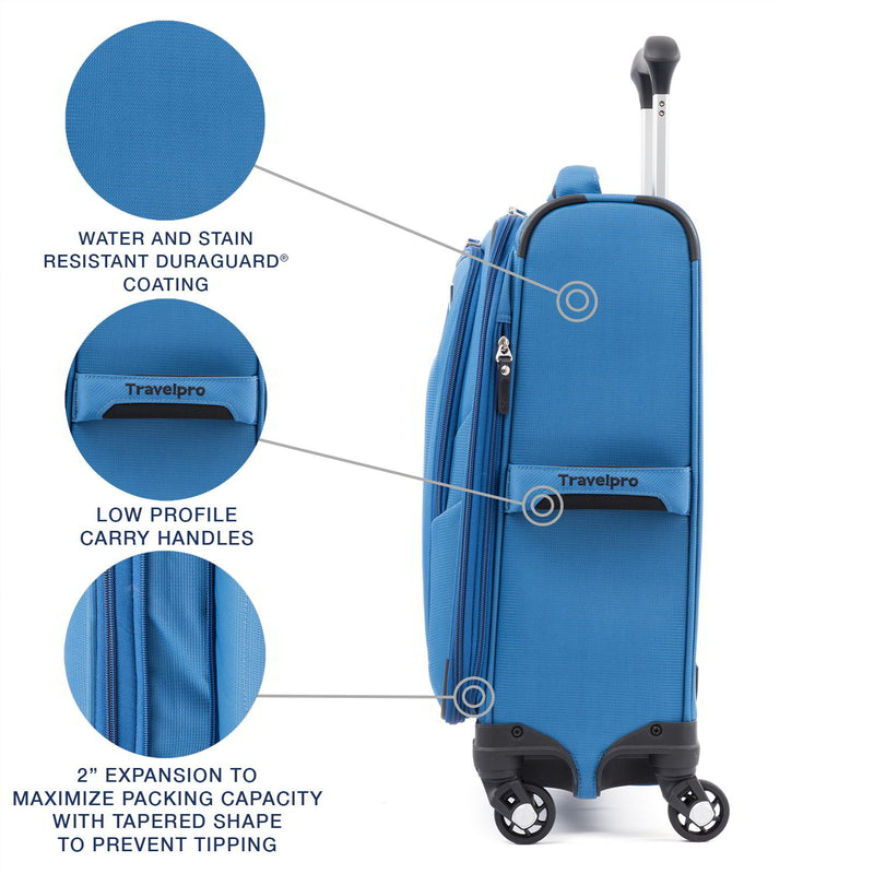 Travelpro Maxlite 5 Lightweight International Expandable Carry-On Spinner-Luggage Pros