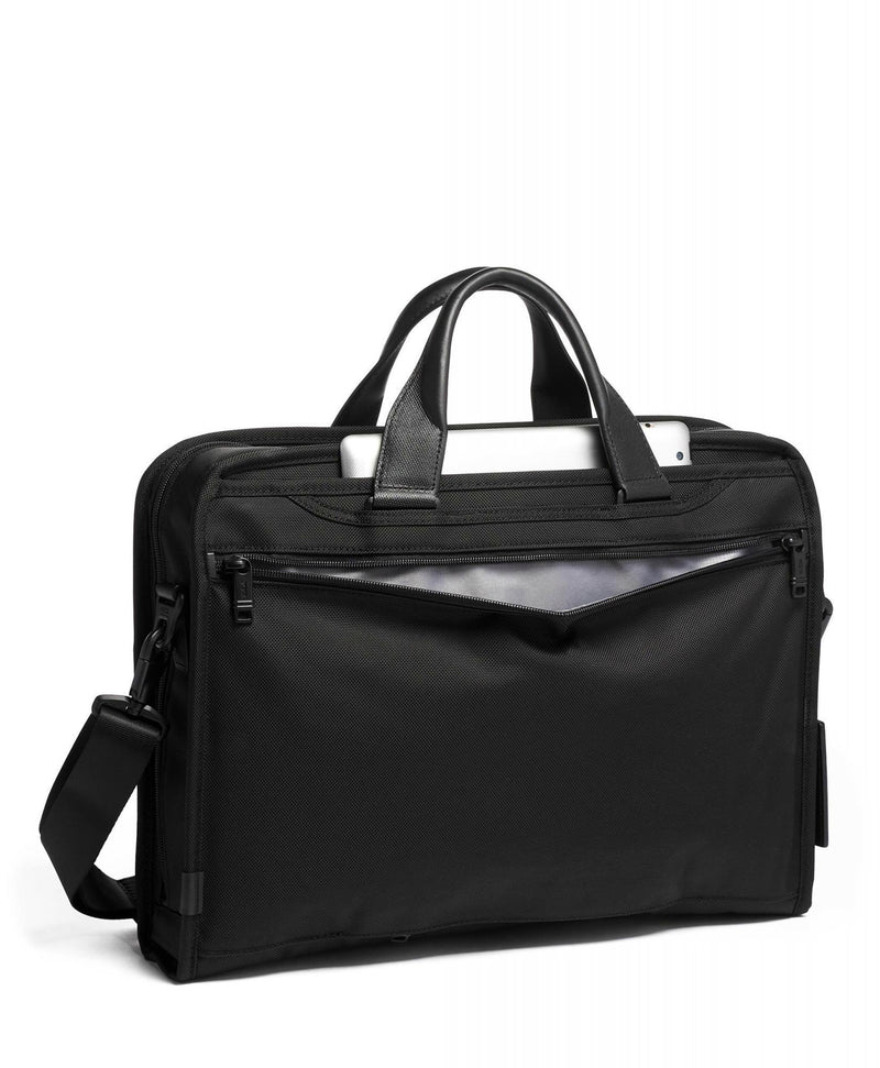 TUMI Alpha 3 Compact Large Screen Laptop Brief-Luggage Pros