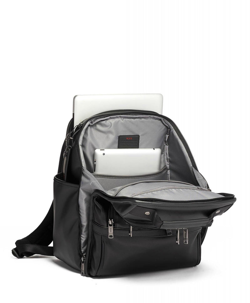 TUMI Alpha 3 Compact Leather Laptop Brief Pack-Luggage Pros