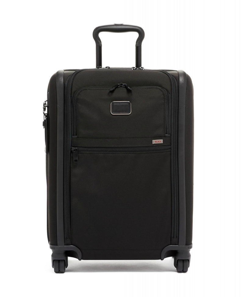 TUMI Alpha 3 Continental Expandable 4 Wheel Carry-On-Luggage Pros