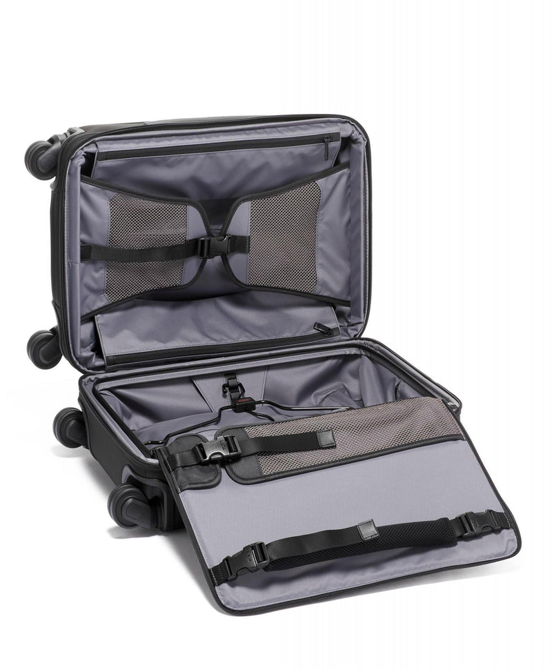 TUMI Alpha 3 International Expandable 4 Wheel Carry-On-Luggage Pros