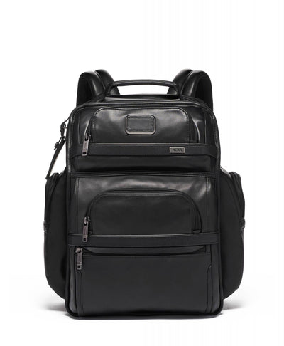 TUMI Alpha 3 Leather Brief Pack