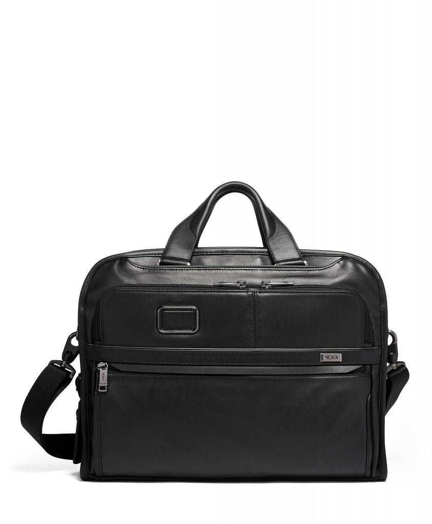 TUMI Alpha 3 Leather Organizer Portfolio Brief