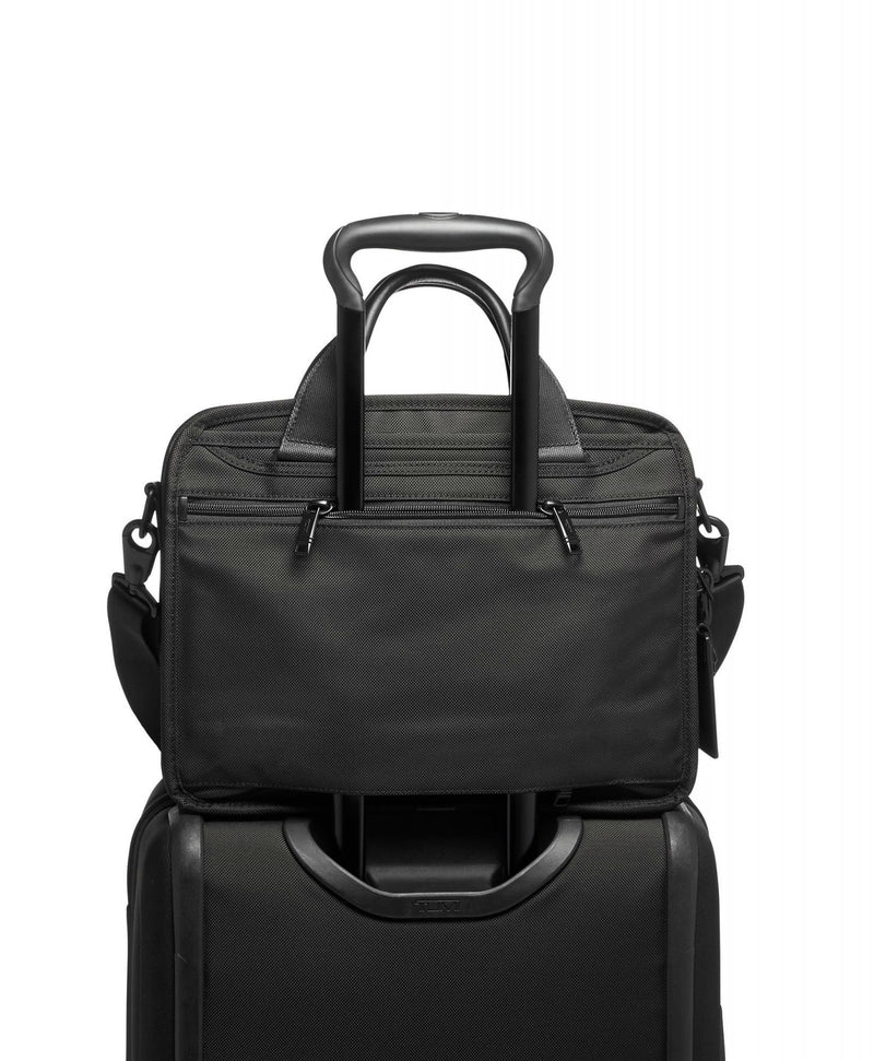 TUMI Alpha 3 Small Screen Expandable Laptop Brief-Luggage Pros