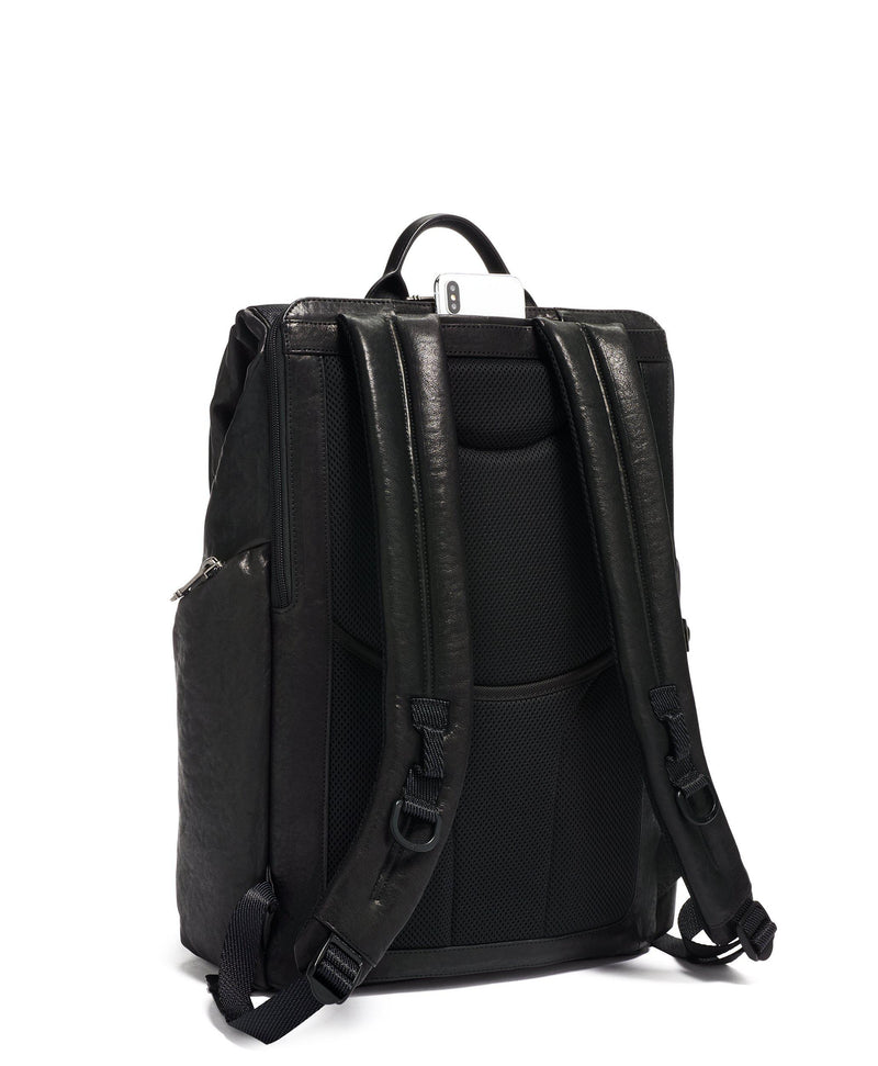 TUMI Alpha Bravo Lark Leather Backpack-Luggage Pros