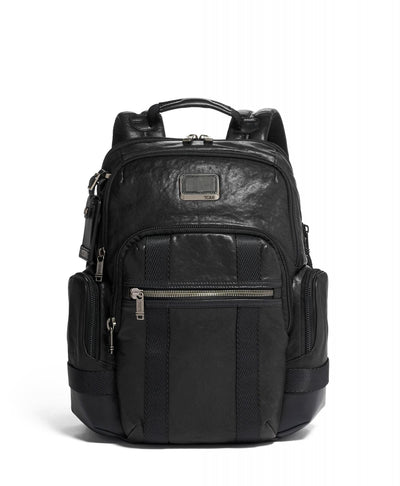 TUMI Alpha Bravo Leather Nathan Backpack