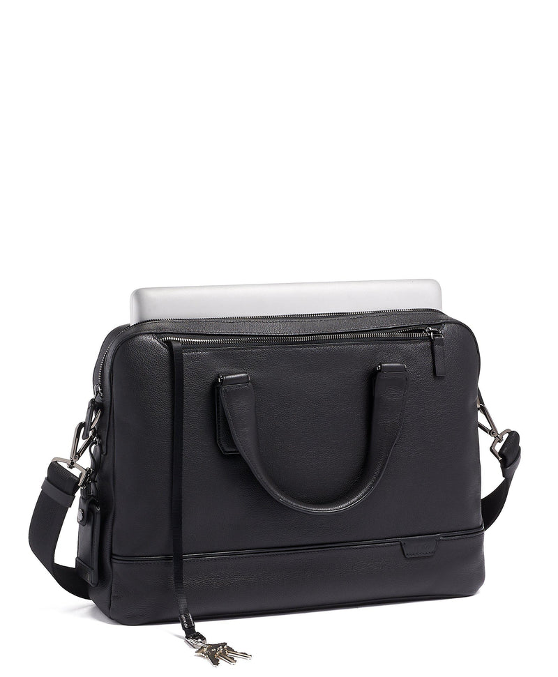 TUMI Harrison Barnes Leather Brief-Luggage Pros