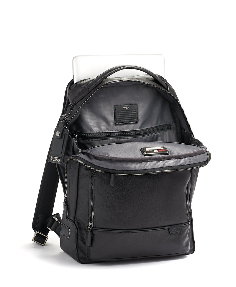 TUMI Harrison Warren Leather Backpack-Luggage Pros