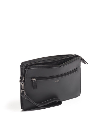 TUMI Nassau SLG Double Zip Clutch