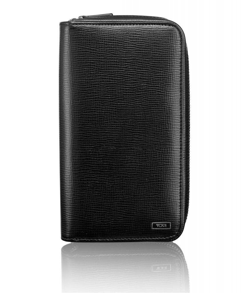 TUMI Nassau SLG Zip-Around Travel Wallet With RFID Technology Textured