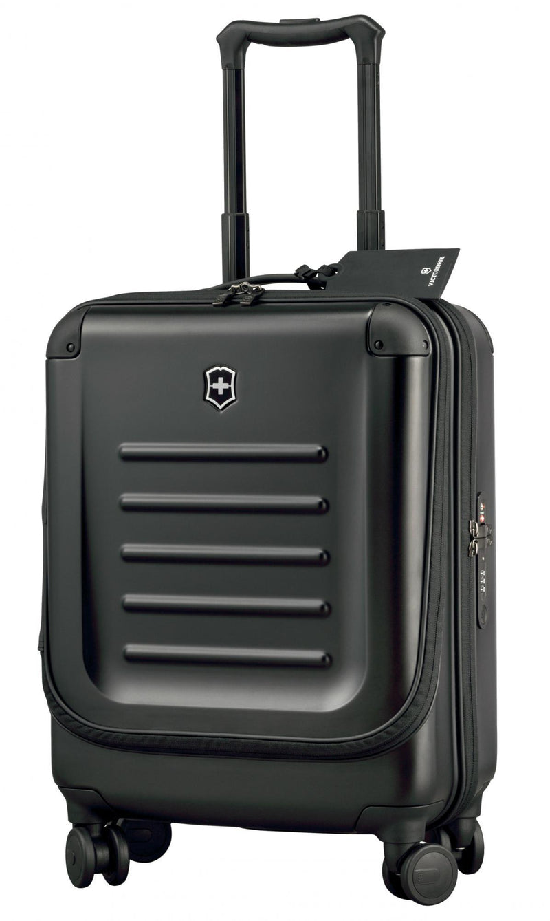 Victorinox Spectra 2.0 Dual-Access Global Carry-On Spinner - Black-Luggage Pros