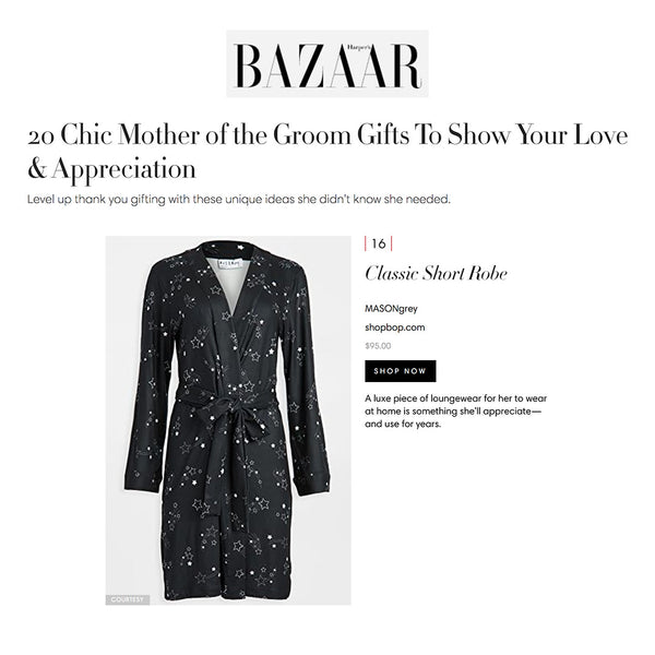 HARPERS BAZAAR | 20 Chic Mother of the Groom Gifts To Show Your Love & Appreciation
