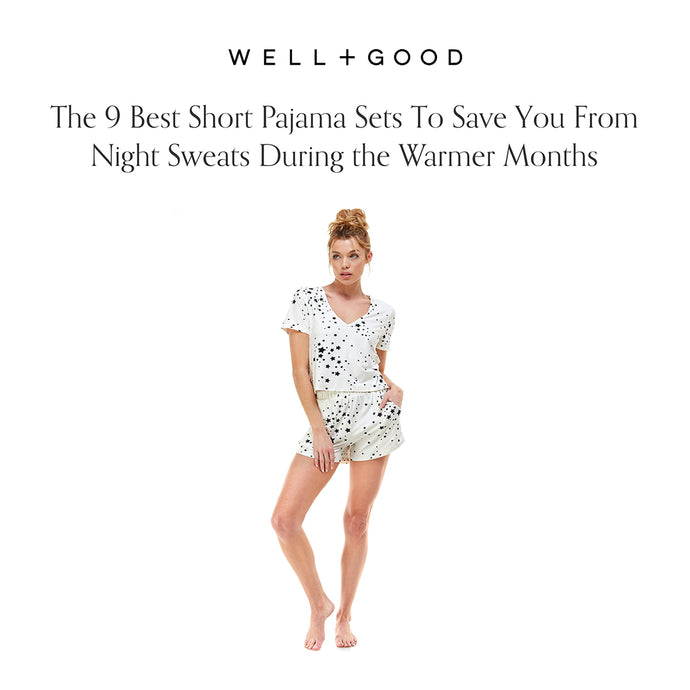 WELL + GOOD | THE 9 BEST SHORT PAJAMA SETS TO SAVE YOU FROM NIGHT SWEATS DURING THE WARMER MONTHS