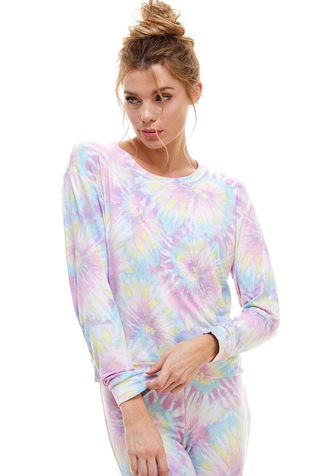 SLEEPY CREWNECK | COTTON CANDY