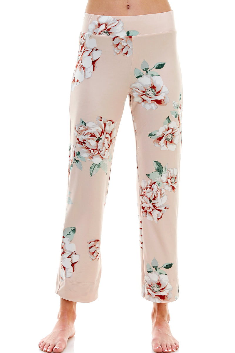 SLEEPY CROP PANT | PEARL FLORAL