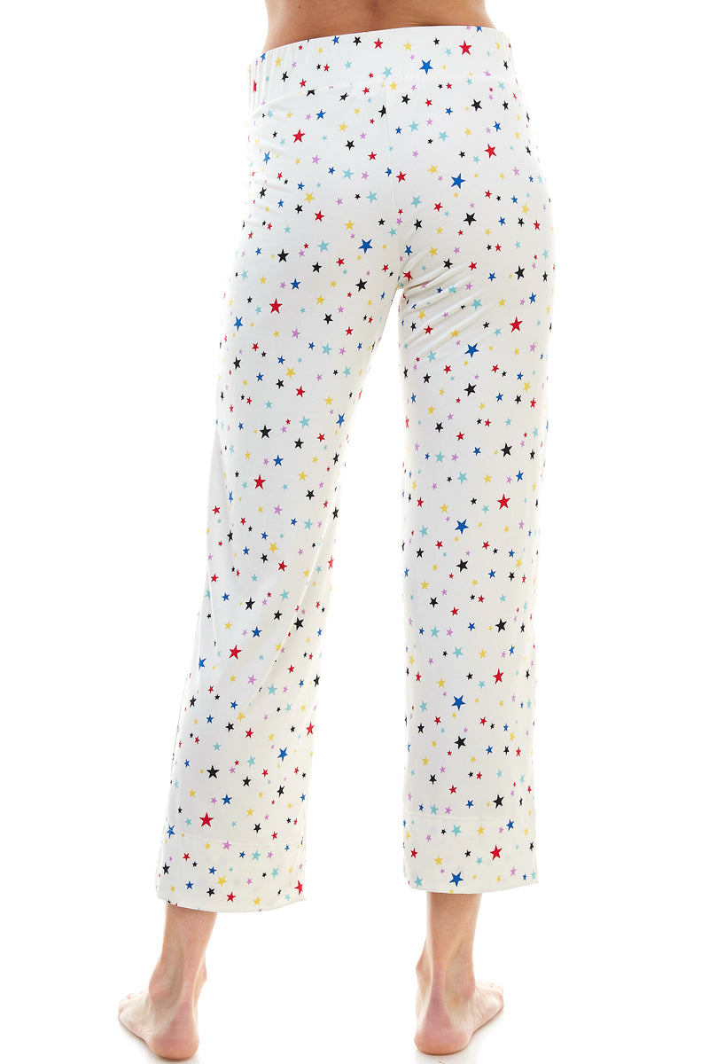 SLEEPY CROP PANT | RAINBOW STAR