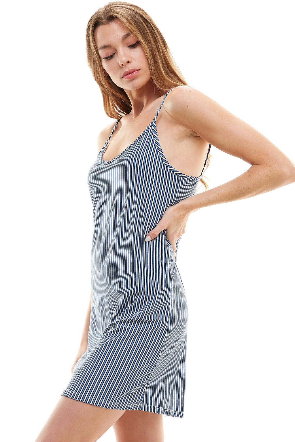 SLIP | LIGHT BLUE BOYFRIEND STRIPE