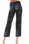SLEEPY CROP PANT | BLACK STARS