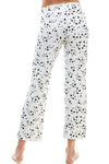 SLEEPY CROP PANT | WHITE STARDUST