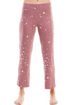 SLEEPY CROP PANT | MAUVE STARS