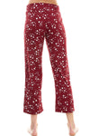 SLEEPY CROP PANT | BURGUNDY STARDUST