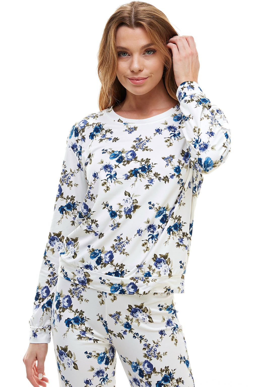 SLEEPY CREWNECK | ROYAL FLORAL
